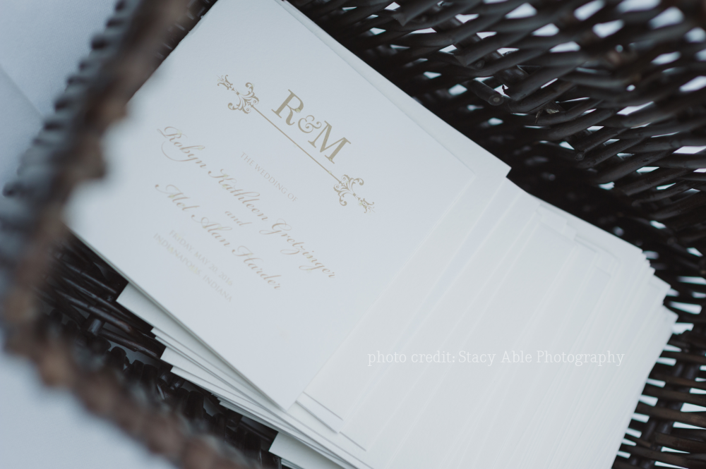 Indianapolis Wedding Invitations at IMA