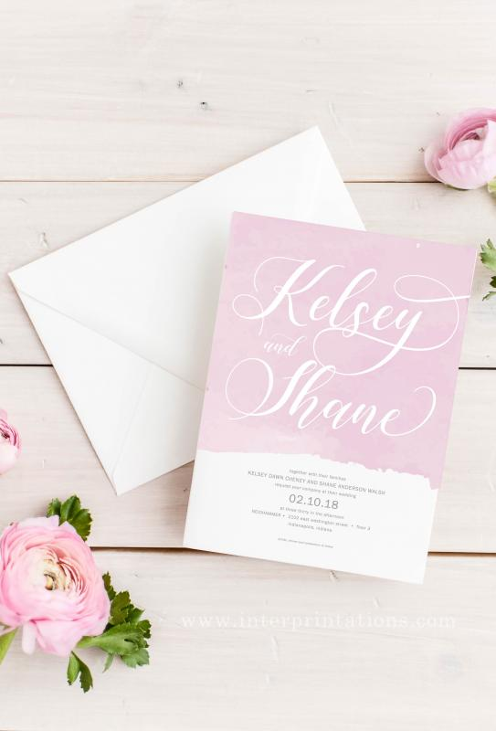 valentine's day wedding invitation indianapolis