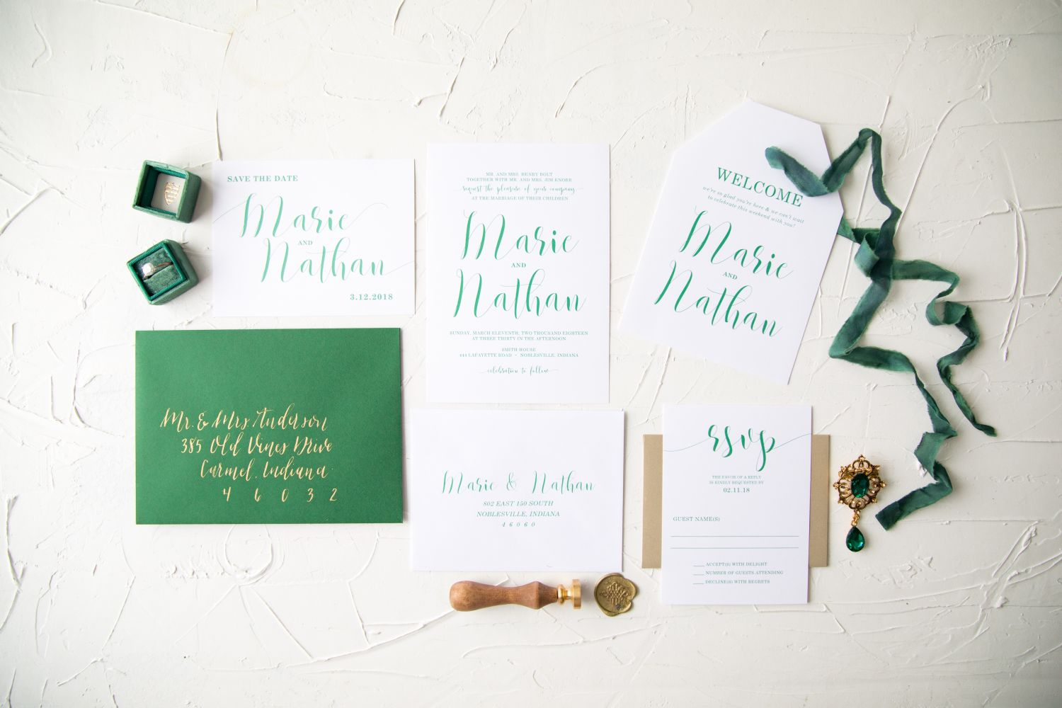 Indianapolist Custom Wedding Stationary