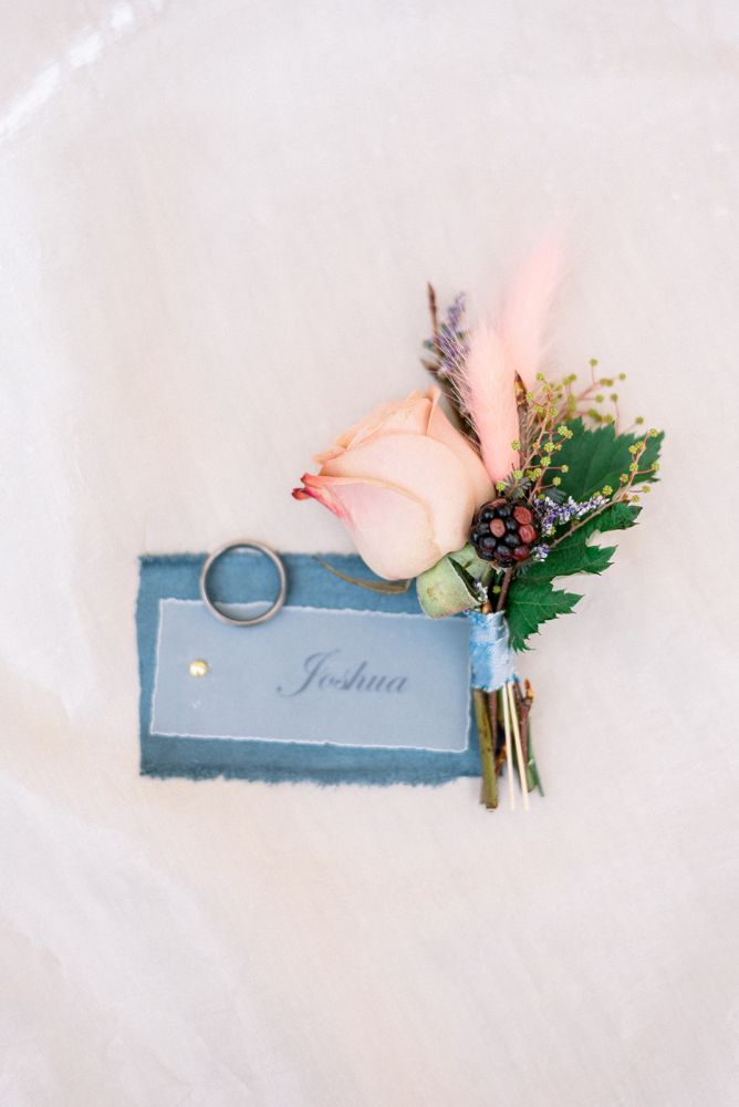 Dusty Blue French Countryside intimate small wedding in Charleston South Carolina
