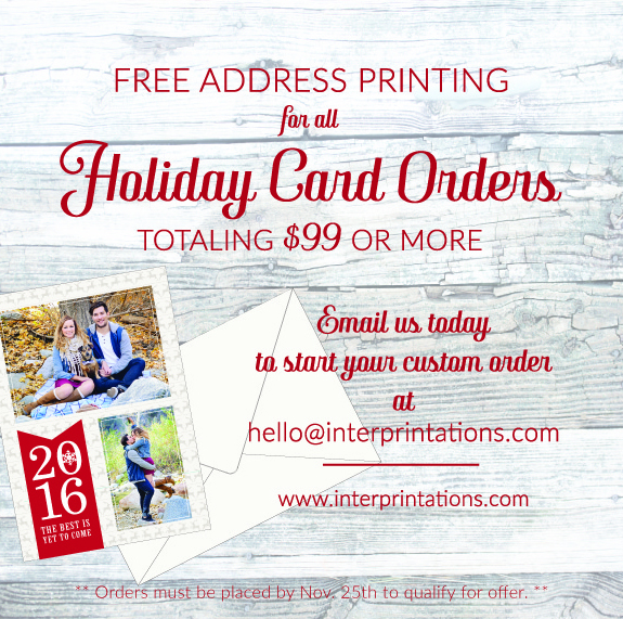Indianapolis Holiday Christmas Photo Card Custom Sale Promo Free
