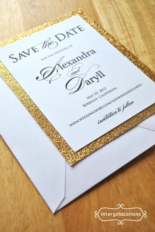Indianapolis Indiana save the date wedding invitation card by Interprintations